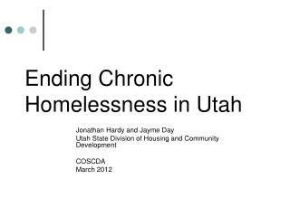 Ending Chronic Homelessness in Utah