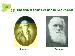 Học thuyết Lamac và học thuyết Đacuyn
