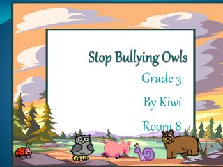 Stop Bullying Owls