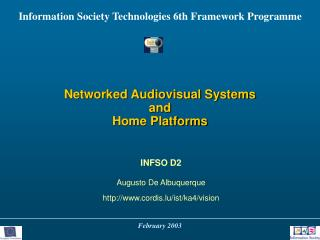 Networked Audiovisual Systems and Home Platforms