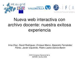 Nueva web interactiva con archivo docente: nuestra exitosa experiencia