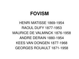 FOVISM