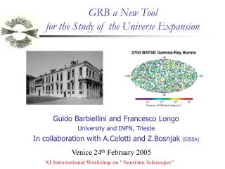 GRB a New Tool  for the Study of the Universe Expansion