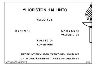 YLIOPISTON HALLINTO