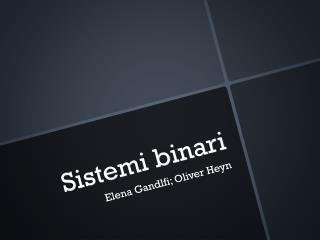 Sistemi binari