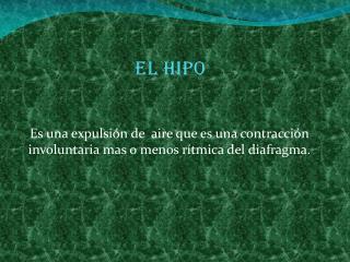 El hipo