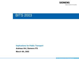 BITS 2003