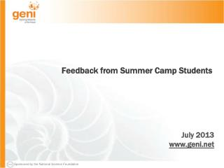 Feedback from Summer Camp Students