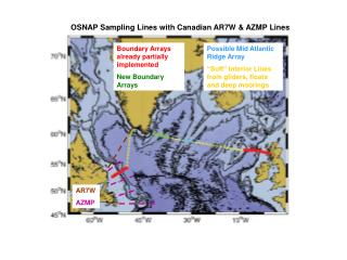 OSNAP Sampling Lines with Canadian AR7W & AZMP Lines