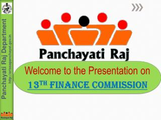 Welcome to the Presentation on  13th Finance Commission