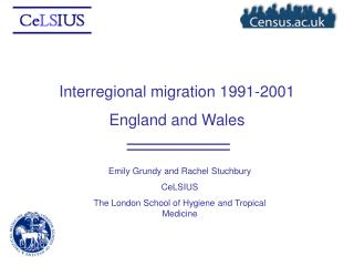 Interregional migration 1991-2001 England and Wales