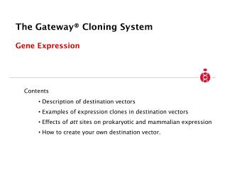 The Gateway  Cloning System