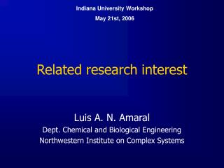 Related research interest