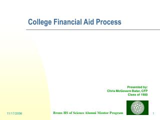 College Financial Aid Process