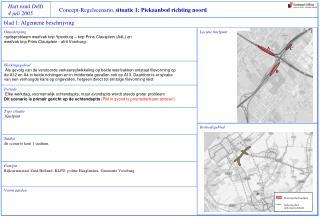 Concept-Regelscenario,  situatie 1: Piekaanbod richting noord