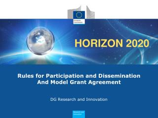 Rules for Participation and Dissemination And Model Grant Agreement