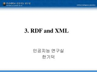 3. RDF and XML