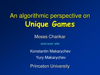 An algorithmic perspective on Unique Games