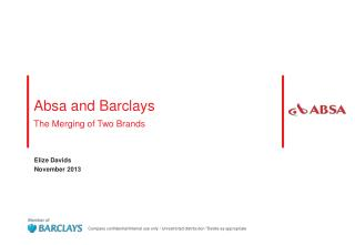 Absa and Barclays