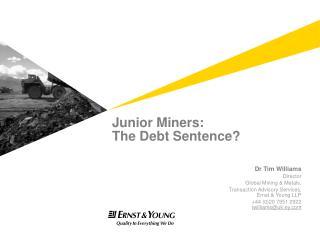 Junior Miners: The Debt Sentence?