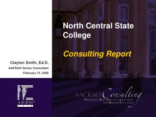 North Central State College  Consulting Report