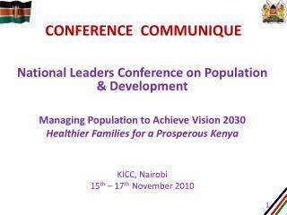 Conference  communique