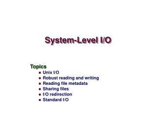 System-Level I/O
