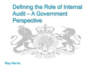 Defining the Role of Internal Audit   A Government Perspective