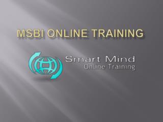 MSBI online training in usa