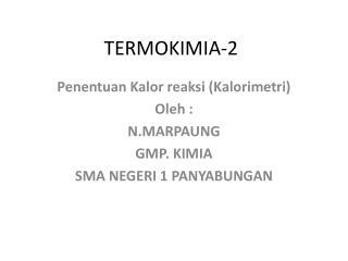 TERMOKIMIA-2