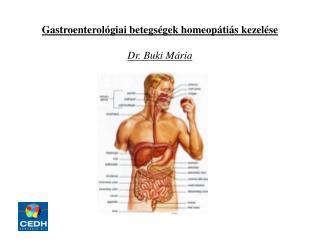 Gastroenterológiai betegségek homeopátiás kezelése