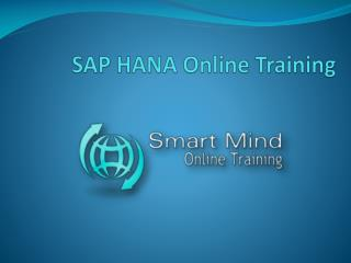 SAP Hana Online Training, online SAP Hana Online Training, o