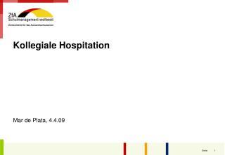 Kollegiale Hospitation Mar de Plata, 4.4.09