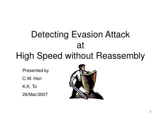 Detecting Evasion Attack at High Speed without Reassembly