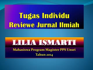 Tugas Individu Reviewe Jurnal Ilmiah