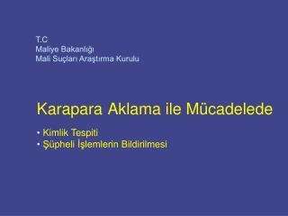 T.C Maliye Bakanlığı Mali Suçları Araştırma Kurulu