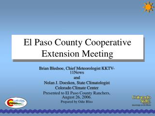 El Paso County Cooperative  Extension Meeting