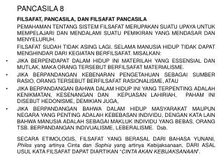 PANCASILA 8