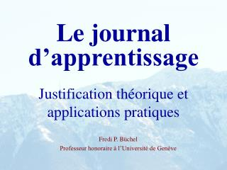 Le journal d�apprentissage