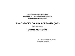 Lu�s Augusto Carvalho Rodrigues lacr @ mail.telepac.pt