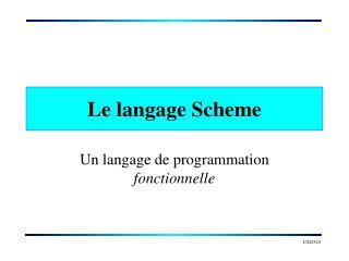Le langage Scheme