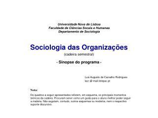 Luis Augusto de Carvalho Rodrigues lacr @ mail.telepac.pt Nota:
