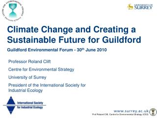 Climate Change and Creating a Sustainable Future for Guildford