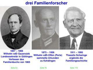 drei Familienforscher