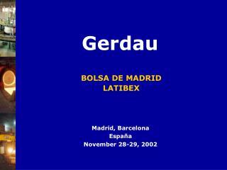 BOLSA DE MADRID LATIBEX
