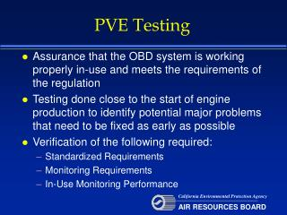 PVE Testing