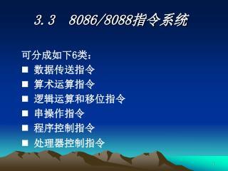 3.3  8086/8088 指令系统
