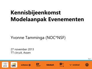 Kennisbijeenkomst Modelaanpak Evenementen