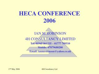 HECA CONFERENCE  2006