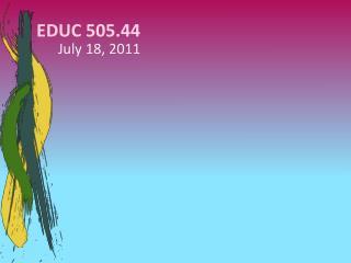 EDUC 505.44